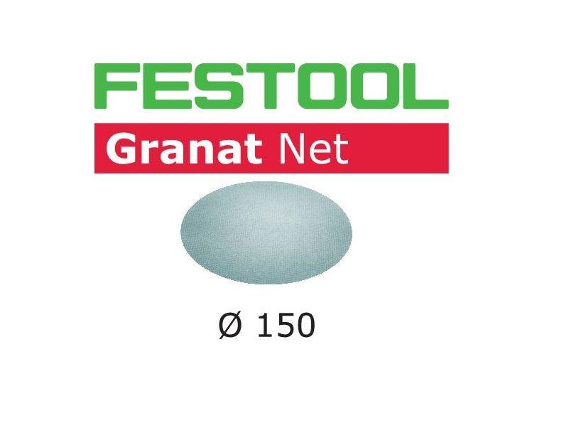 FESTOOL Netzschleifmittel Granat NET Gitter Ø 125mm StickFix VOC Lacke Spachtel